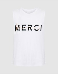 Decjuba Kids - Merci Beaucoup Tank - Teens