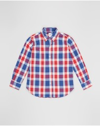 GapKids - Long Sleeve Poplin Plaid Shirt - Teens