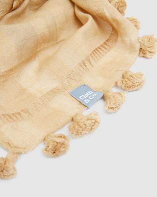 Cloth & Co. Hand Loomed Silk & Cotton Scarf - Scarves & Gloves (Sand)