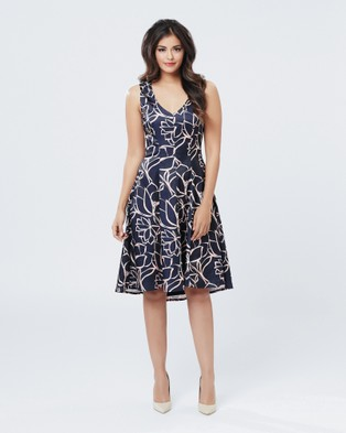 Review – WILD AT HEART DRESS – Dresses (NAVY/ CHAMPAGNE)