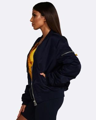 Nicky Kay Reversible Bomber Jacket - Coats & Jackets (Navy)