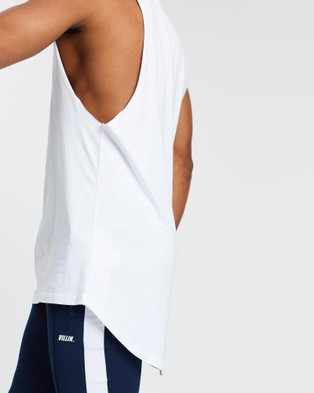 VILLIN Shadow Drop Tail Tank - T-Shirts & Singlets (White)