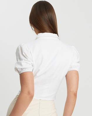 BWLDR Lea Crop Shirt - Cropped tops (White)
