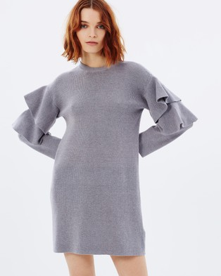 C/MEO COLLECTIVE – Never Enough Knit Dress – Dresses (Grey)