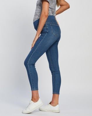 Cotton On Maternity - Maternity Super Stretch Under Belly Jeans - Jeans (Coogee Blue) Maternity Super Stretch Under Belly Jeans