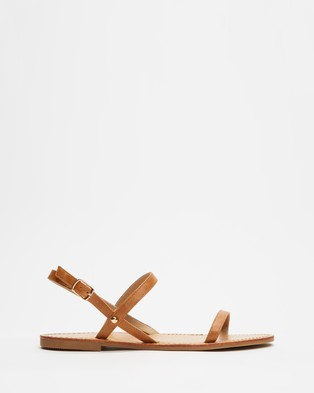 SPURR Tiarne Sandals - Sandals (Tan Smooth)