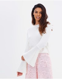 Miss Selfridge - Pearl Flute Sleeve Jumper