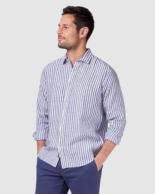 Blazer Jayden Long Sleeve Print Shirt - Shirts & Polos (Navy)