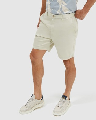 SABA Thomas Shorter Length Chino Shorts - Chino Shorts (stone)