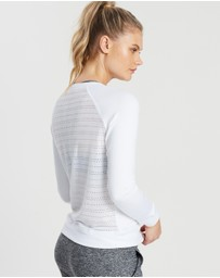 Beyond Yoga - Banded Mesh Pullover