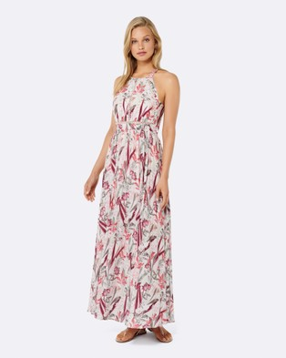 Forever New – Elka Lace Spliced Maxi Dress Sunset Jungle Print