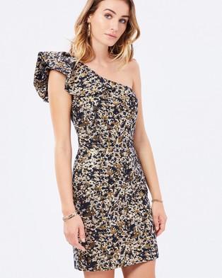 Miss Selfridge – Leopard One Shoulder Prom Dress – Bodycon Dresses (Leopard)