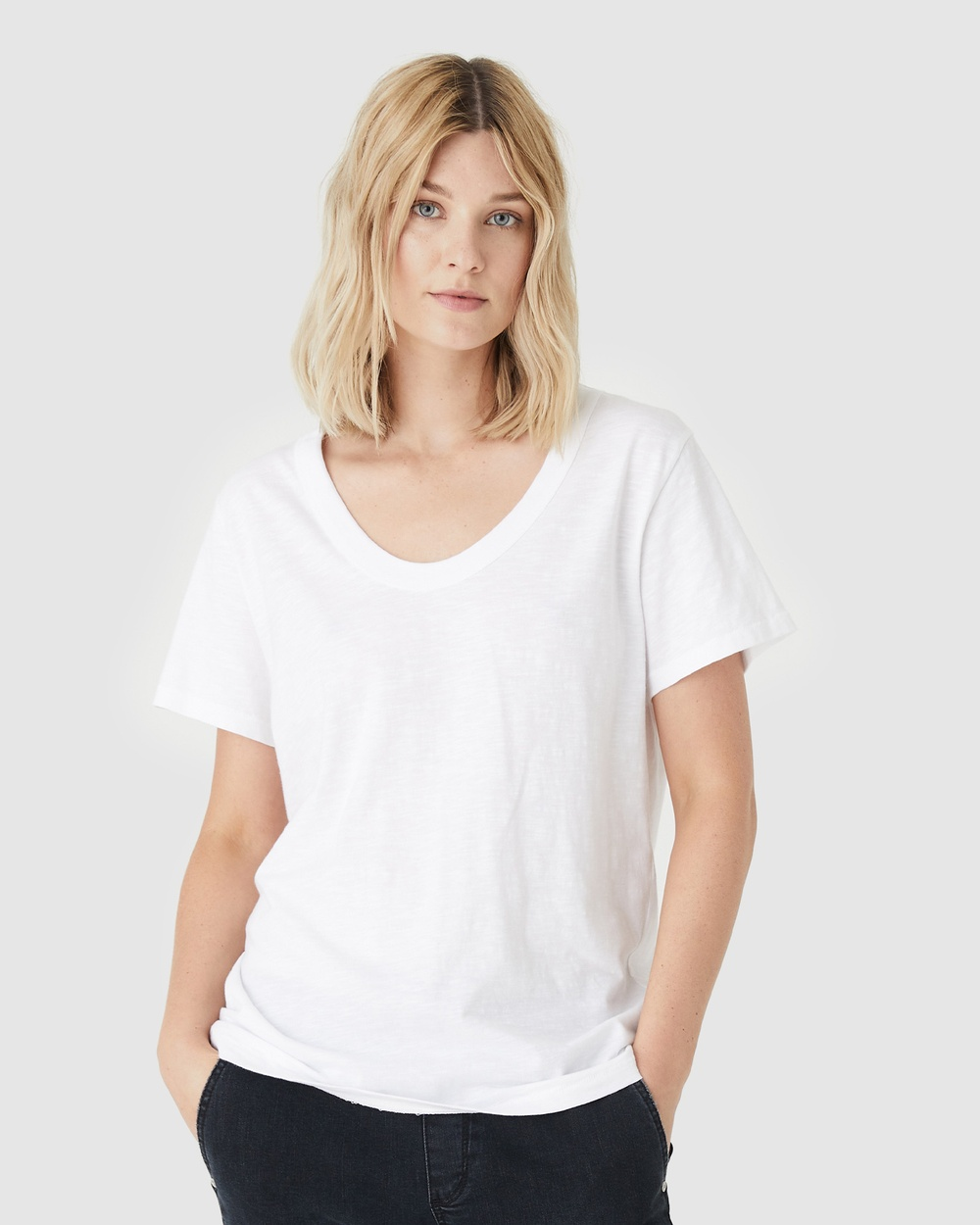 Jac & Mooki - Jess Tee - T-Shirts & Singlets (white) Jess Tee