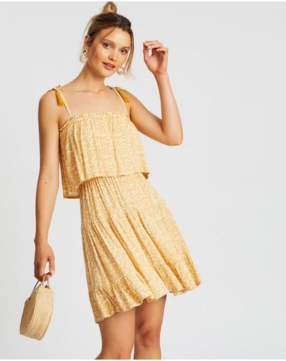 Barefoot Blonde Gypsy Dress Champagne