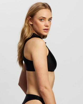 TWIIN Kokomo Cut Out Crop - Bikini Tops (Black)