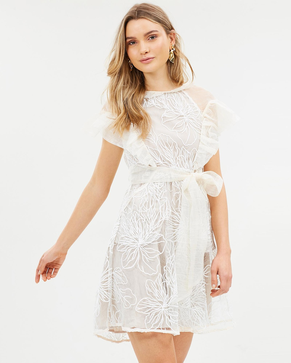 Elliatt Woodsen Dress Dresses White Woodsen Dress