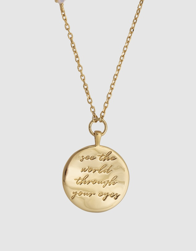 Women See the World Gold Necklace