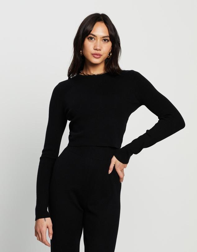 Women Leah Knit Tie Back Top
