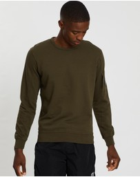 C.P. Company - Garment Dyed Light Fleece Lens Crew Sweater