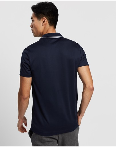 Lacoste Golf Ribbed Collar Jersey Polo Navy Blue