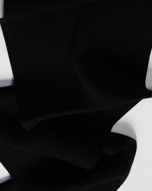 Kent and Curwen Black Rose Scarf - Scarves & Gloves (Black)
