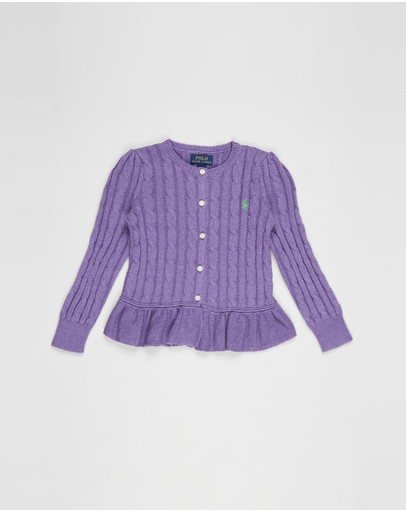 Polo Ralph Lauren - Peplum Cardigan - Kids
