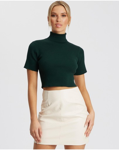 Tussah Elmani Knit Top Emerald