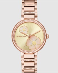 Michael Kors - Courtney Rose Gold-Tone Analogue Watch