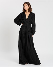 Matin - Full Length Gathered V Dress