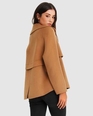 Belle & Bloom I'm Yours Wool Blend Peacoat - Coats & Jackets (Camel)