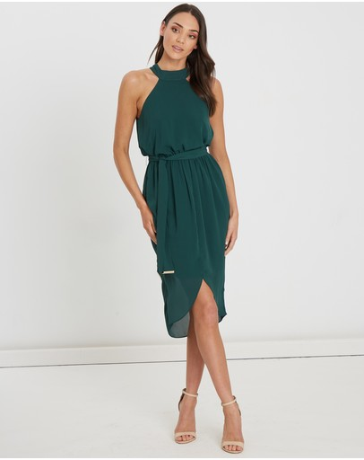 Tussah Crissie Midi Dress Emerald