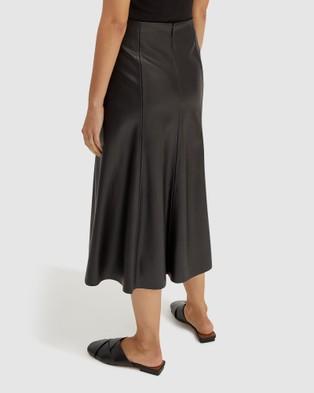 SABA Viv Vegan Leather Skirt - Leather skirts (Black)