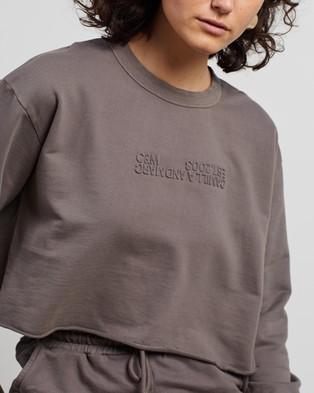 C&M CAMILLA AND MARC Josef Cropped Sweater - Sweats (Smoke)