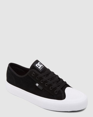 DC Shoes Mens Manual S  Skate Shoe - Sneakers (Black/White)