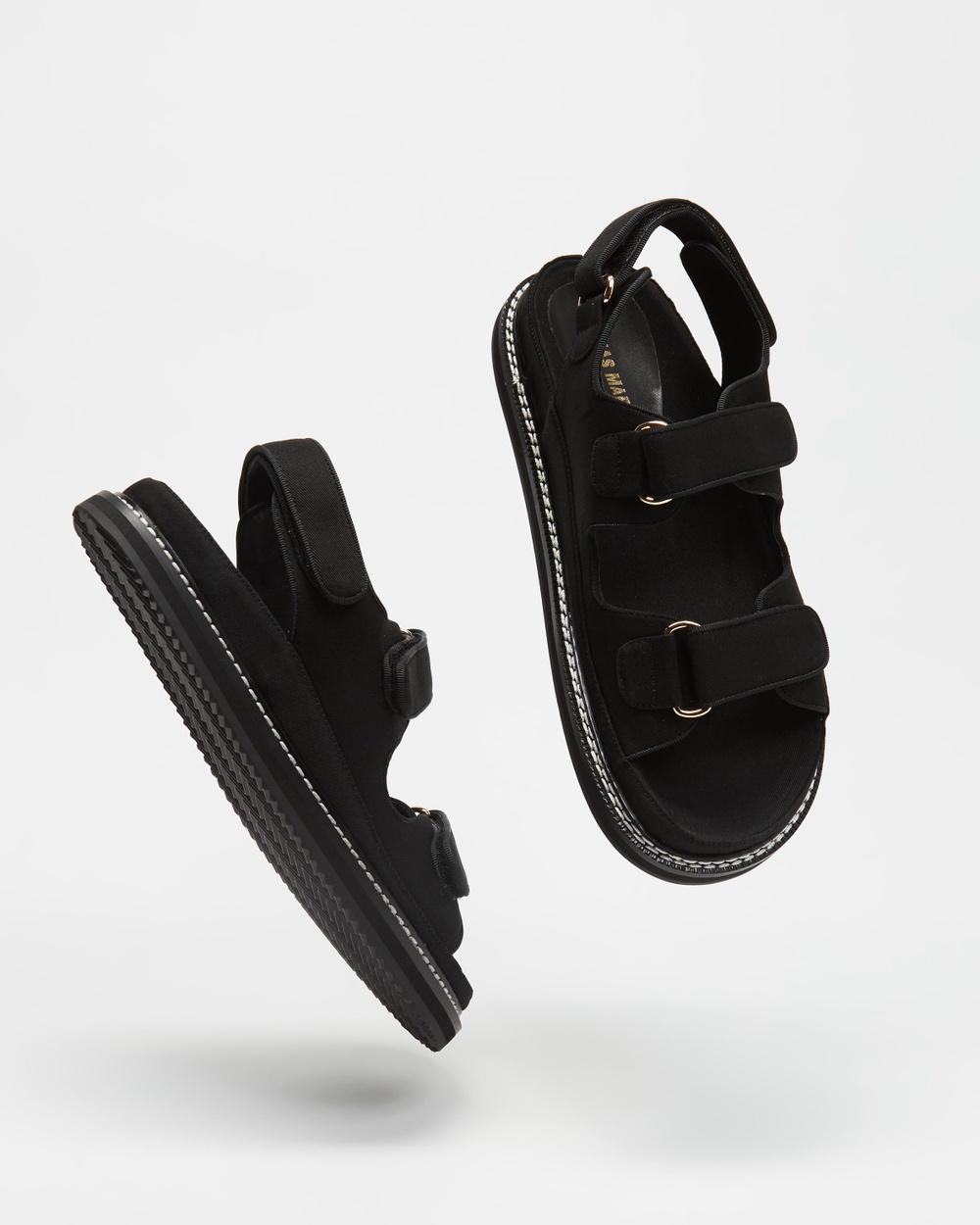 Alias Mae Pascale Sandals Black Canvas