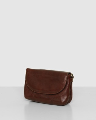 Florence The Charlotte Brown Clutch - Handbags (Brown)