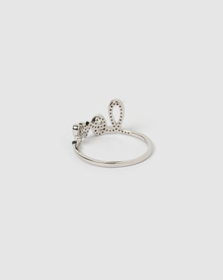 Izoa LOVE Crystal Ring Silver - Jewellery (Gold)