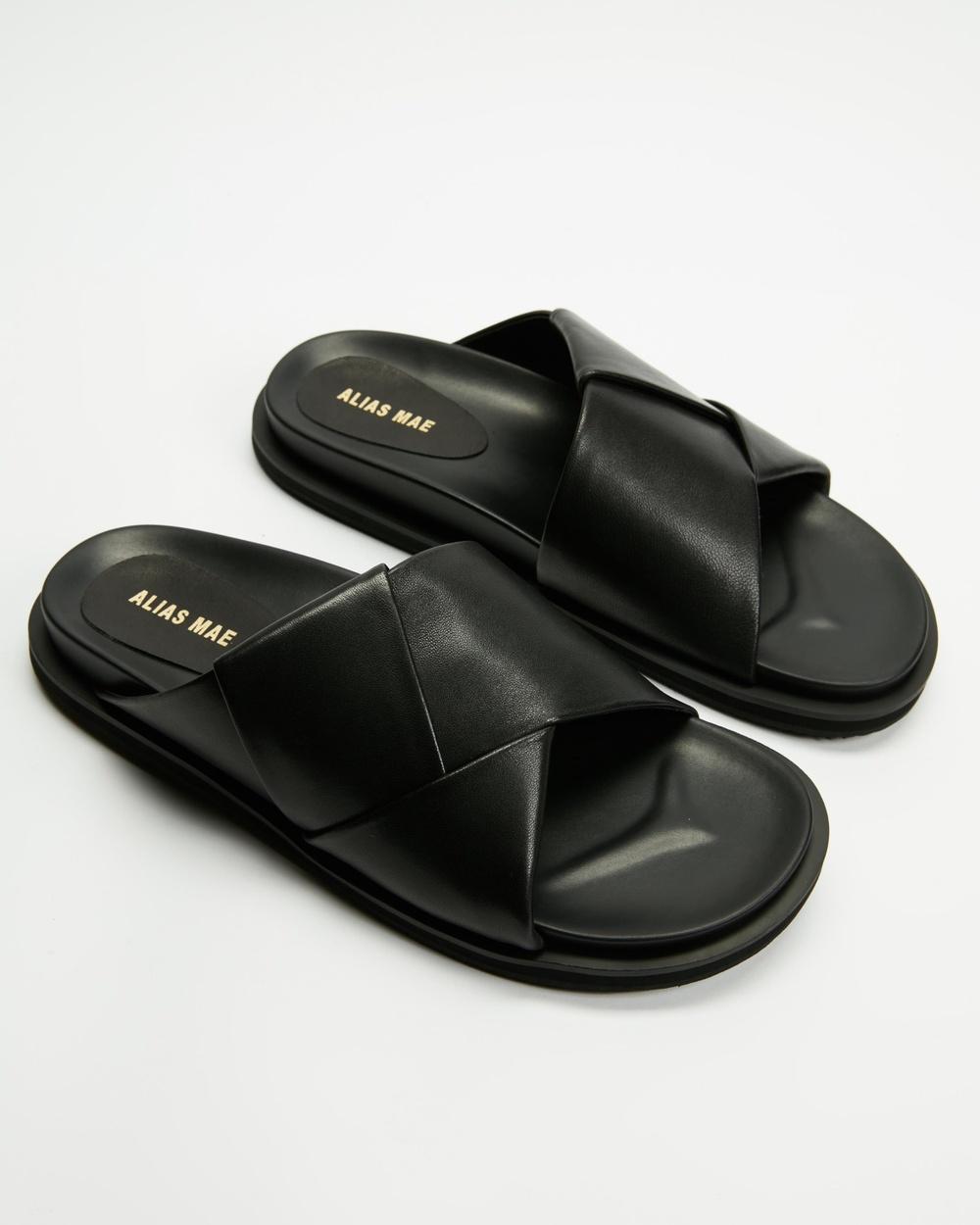 Alias Mae Solaris Sandals Black Leather