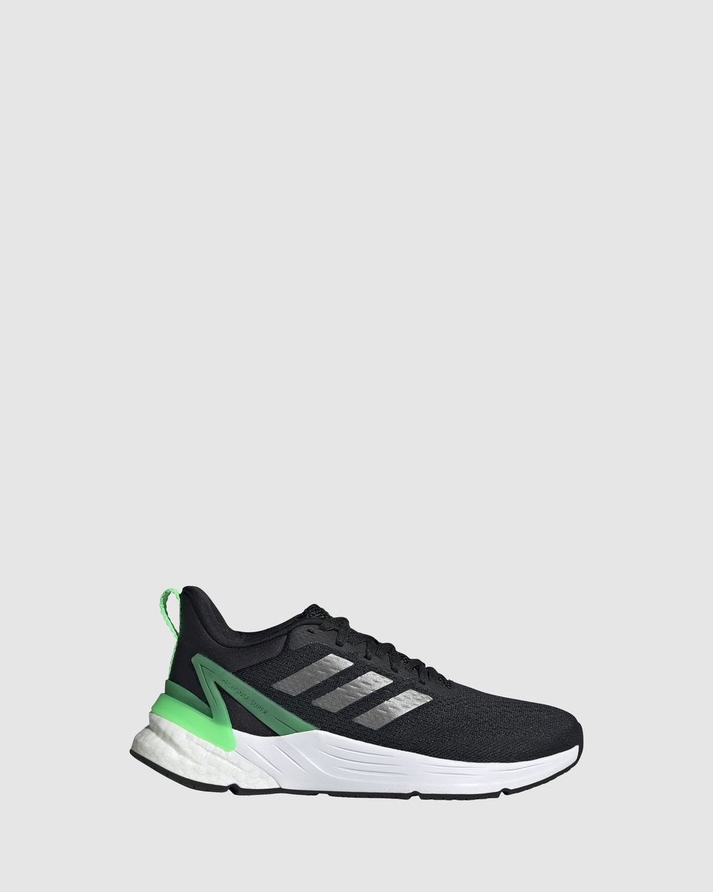 adidas Performance Response Super 2.0 Grade School Lifestyle Shoes Black/Screaming Green