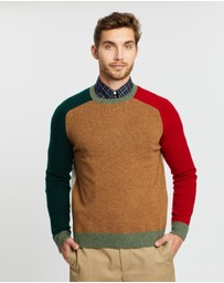 BROOKS BROTHERS - Colour-Block Crew Knit