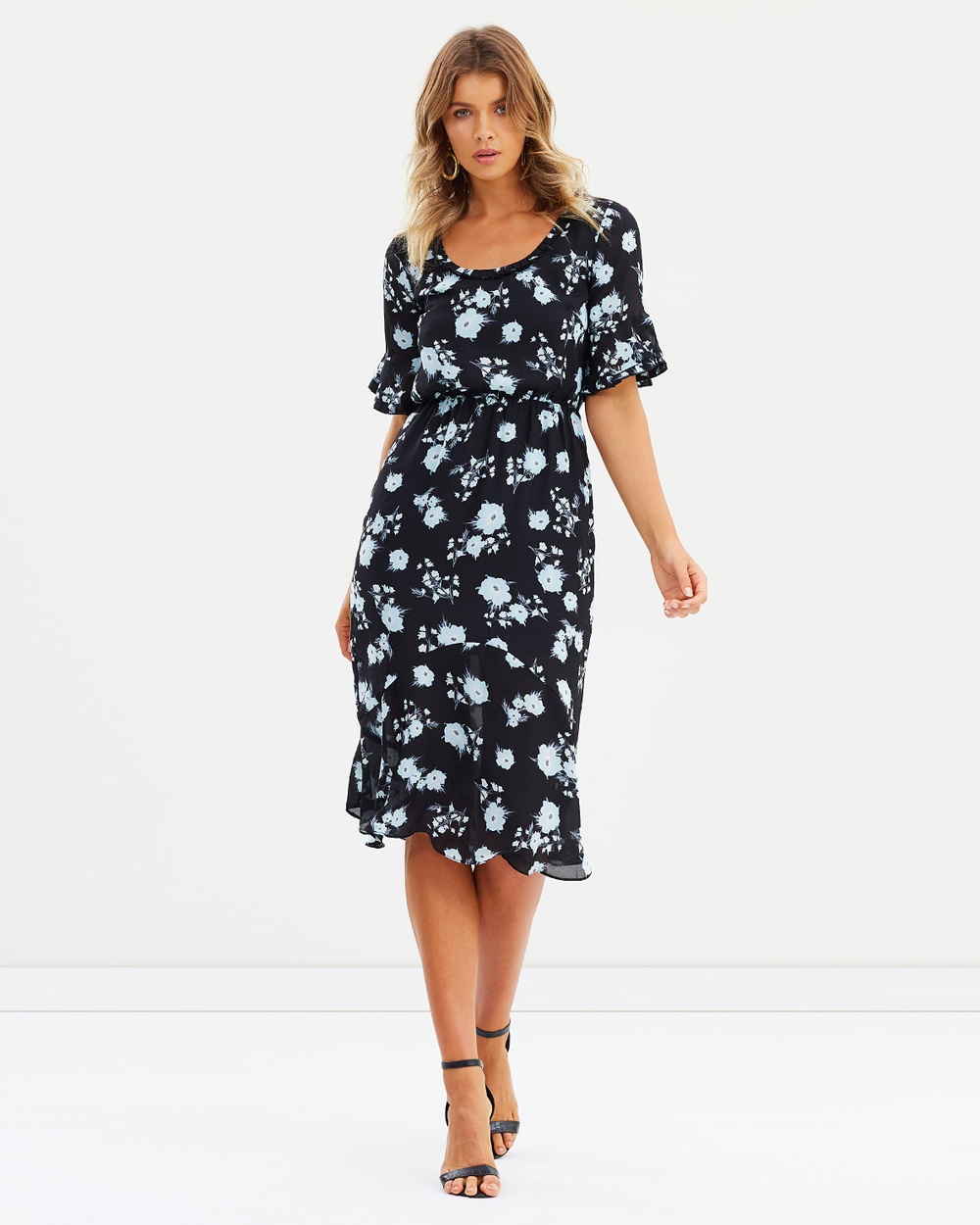 Atmos & Here ICONIC EXCLUSIVE Zaylee Fitted Maxi Dress Dresses Soft Washed Floral ICONIC EXCLUSIVE Zaylee Fitted Maxi Dress