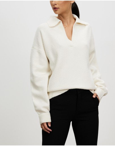 Bec + Bridge - Bea Knit LS Polo Top
