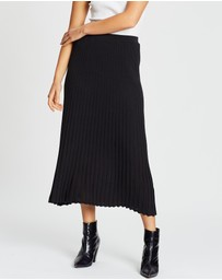 POL Clothing - Scope Ribbed Pleat Skirt