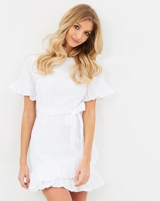 Atmos & Here – Harper Cotton Ruffle Dress White