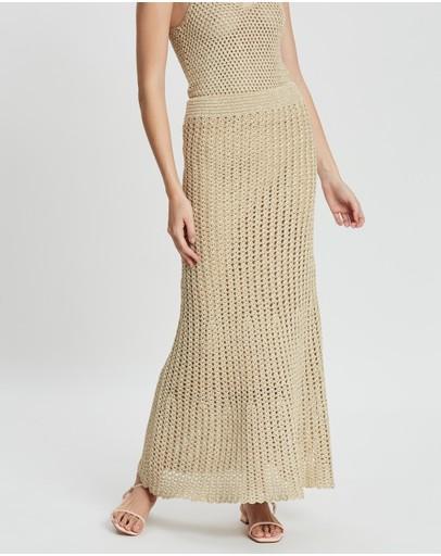 Hansen & Gretel Lila-mae Crochet Skirt Gold