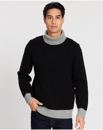 3 Wise Men - The Roland Roll Neck Knit