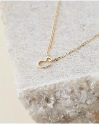 By Charlotte - 14K Gold Love E Necklace