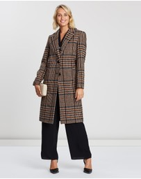 Dorothy Perkins - Colour Pop Check Midi Coat