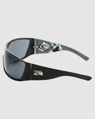 Carve - Kingpin Polarized Sunglasses (Black Grey)