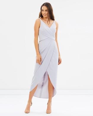 Alabaster The Label – Athena Dress – Bridesmaid Dresses Dusty Blue